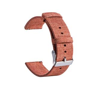 Image 5 - New High Quality Strap Universal Nylon Canvas Watchband 22mm Smart Watch Strap For Pebble Time 1 2 Generation