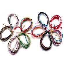 30Pcs Multilayer Rope Bracelets Men/Women Multi Colors Handmade Knitted Wool Adjustable Bracelet Wristband Charm