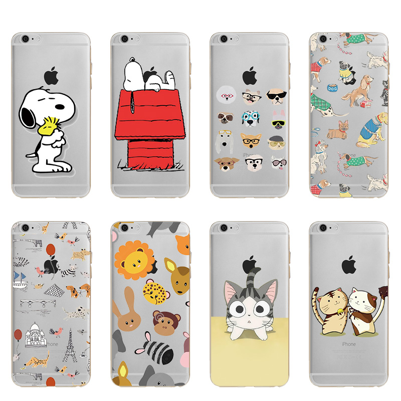 Hot Sale Fashion Cases Cute Cartoon Dog Puppy Soft TPU Silicone Case Cover For Apple iphoe X 8 7 Plus 6 6S 5 5S #005