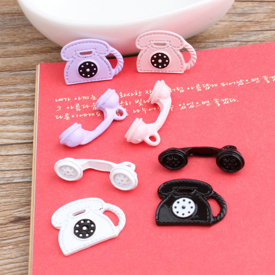 Free Shipping 40 Sets(80pcs) Enamel Alloy DIY Jewelry Charms Oil Drop Metal <font><b>Bracelet</b></font> Necklace Telephone <font><b>Cell</b></font> <font><b>Phones</b></font> Charm Craft