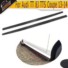 Carbon Fiber Car Side Skirts Apron for Audi TT 8J Coupe 13-14 TTS Convertible 08-13
