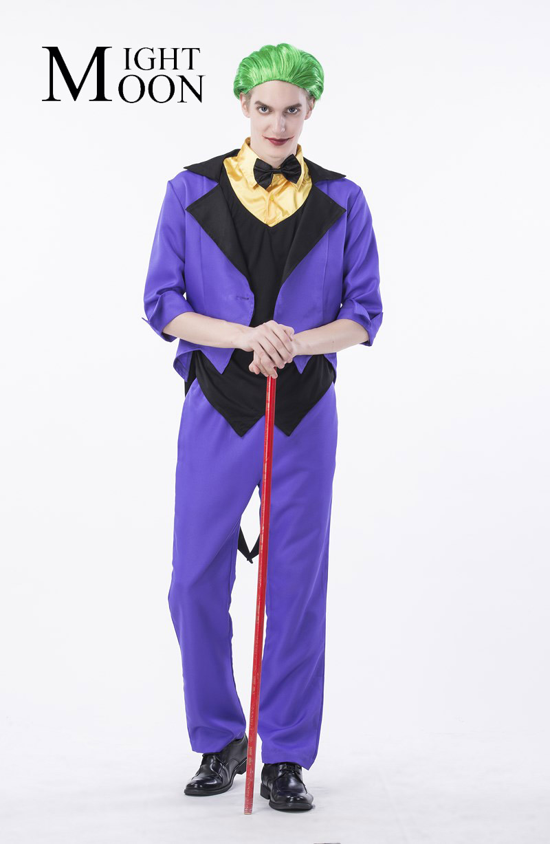 2017 New Halloween Costume Clown Costume Men Magic Show Clothing Masquerade Costume