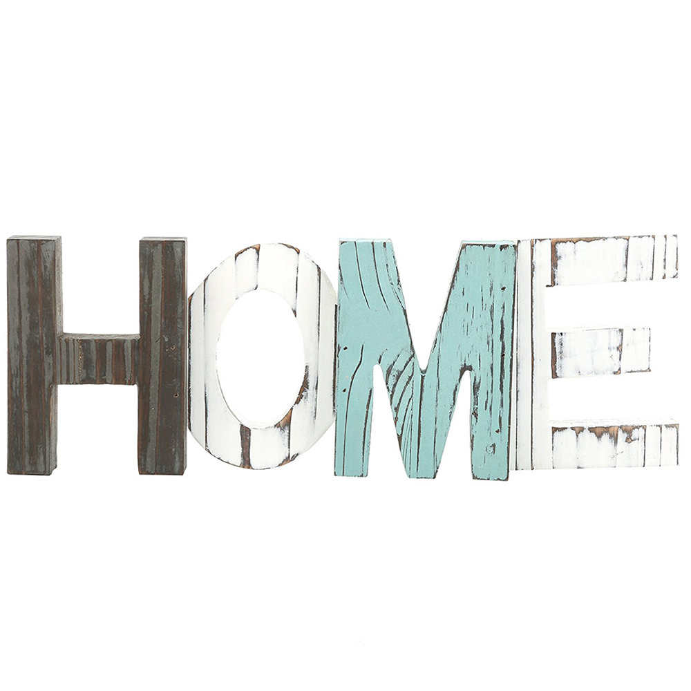 New Rustic Wood HOME Decorative Sign Standing Cutout Word Decor Wood Products Pantry Open 24/7 Gather Wood Sign Wall Art Decor