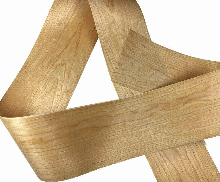 2Pieces/Lot L:2.5Meters  Wide:200mm Thickness:0.2mm American Cherry Bark Veneer Solid Wood Speaker Skinning Veneer