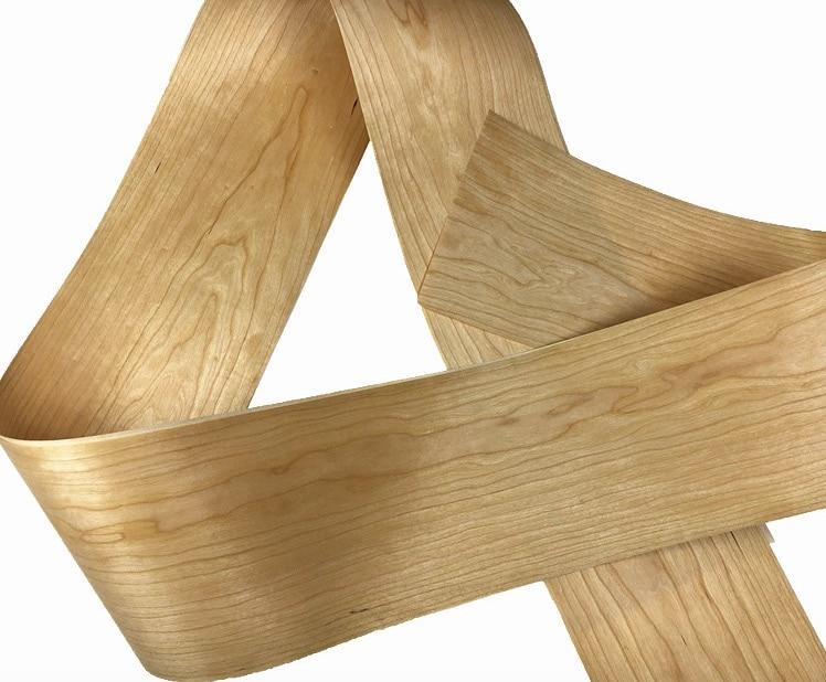 L:2.5Meters/pcs    Wide:200mm Thickness:0.2mm American Cherry bark veneer Solid wood Speaker skinning veneer