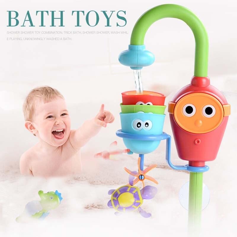 Baño caños clockwork robofish agua juego en el baño oyuncak para niños bebés niños Piscina juguetes de baño bañera