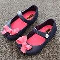 Verão Mini sed botas Novas sandálias Meninas Crianças sapatos meninas Coreana arco Sandálias da geléia de cabeça de peixe Botas sapatos de Crianças