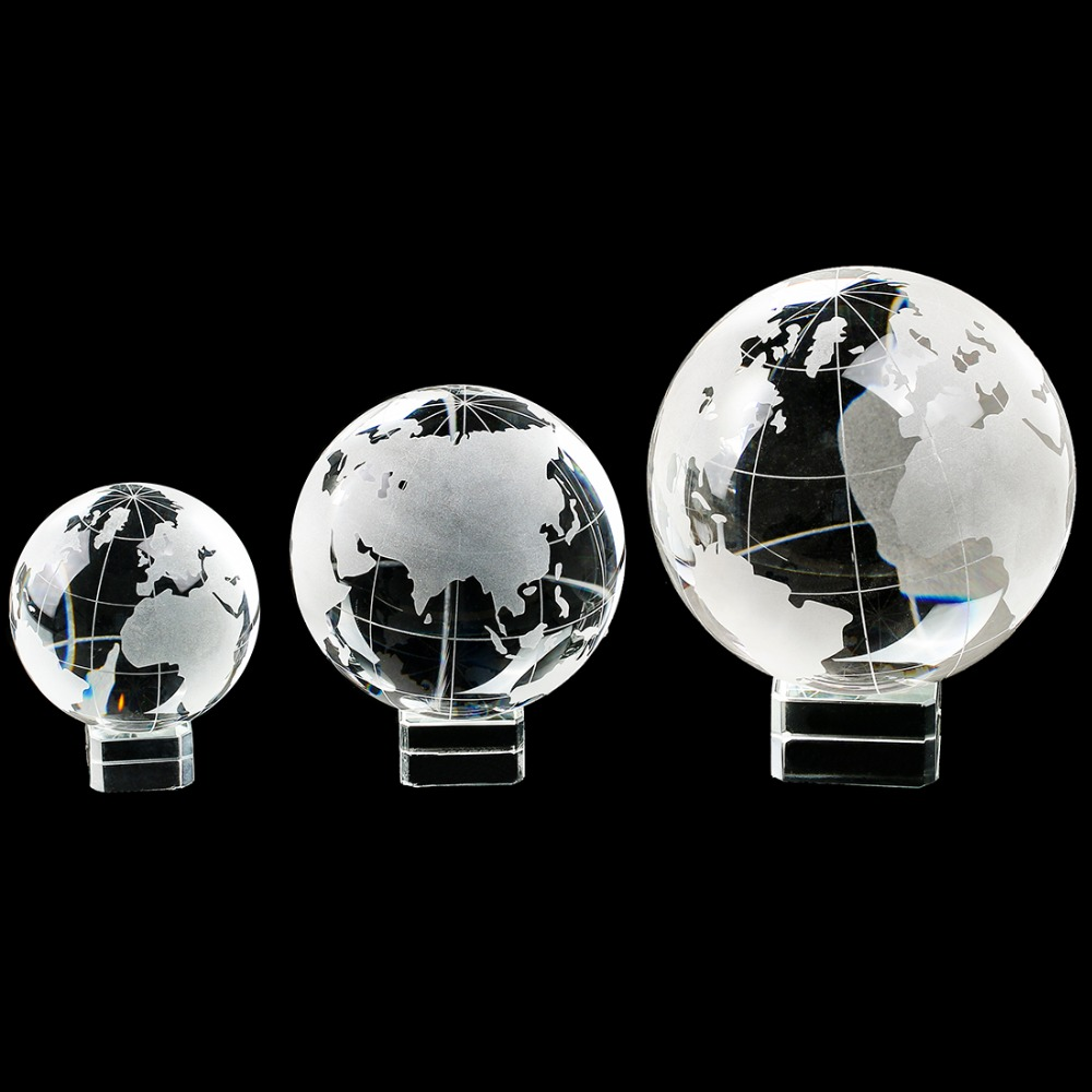 H&D 3 Size Clear Globe Crystal Ball Transparent Decorative Ball Ornaments Feng Shui Miniature Gifts Home Decoration Accessories