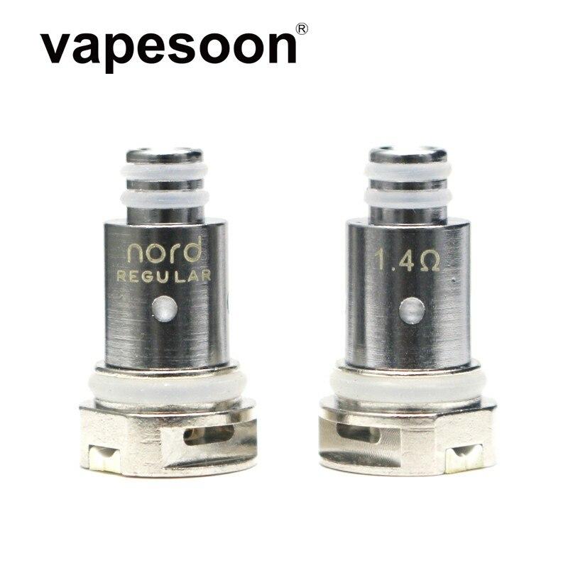 30pcs Vapesoon Replacement Nord Coil Head Regular Mesh Ceramic 1.4/ 0.6/0.8ohm For SMOK Nord Kit Vape Pod System E-Cigarette