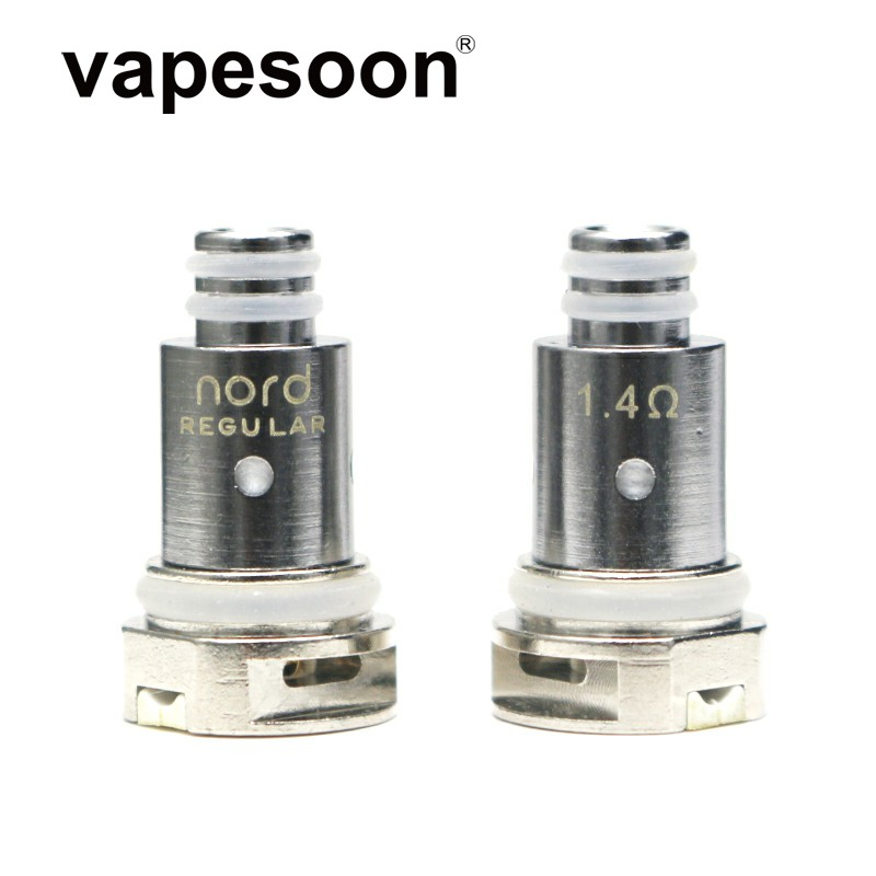 5pcs Vapesoon Replacement Notd Coil Head Regular Mesh Ceramic 1.4/ 0.6/0.8ohm For Notd Kit Vape Pod System E-Cigarette
