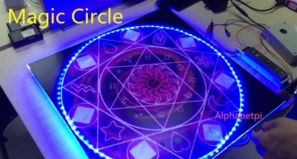 Cercle magique Magique tableau Tactile déverrouiller en même temps tactile tableau Magic props réel salle de vie s'échappe chambre prop jeu avec son