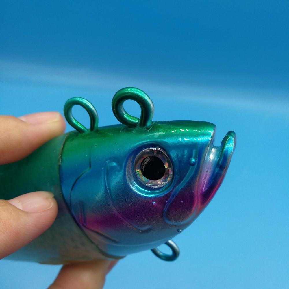 Свинцовая головка HOOFISH, мягкая рыболовная приманка, глубокая морская большая рыболовная приманка, 440 г/26 см, сверкающий хвост, рыболовные снасти