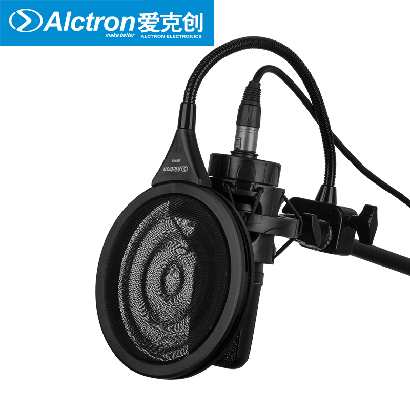 Alctron MPF02 microphone pop filter for studio recording stage performance dual metal material with new design