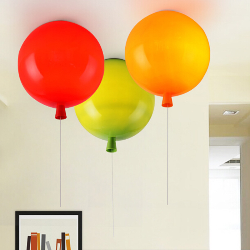 Colorful balloon ceiling lamp children room cute ball lampshade light living room pub hotel decoration lighting ao058m 2m hot selling inflatable advertising helium balloon ball pvc helium balioon inflatable sphere sky balloon for sale