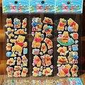 5 pçs/lote Moda Marca Crianças Brinquedos Dos Desenhos Animados Vigny Urso Tiger 3D Adesivos Crianças meninas meninos PVC Adesivos Autocolantes Bolha brinquedo