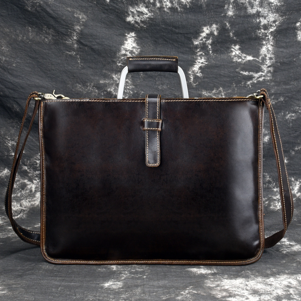 Business Briefcases Man for lawyer Genuine Leather Messenger Bag Men Shoulder Bags leather laptop men s