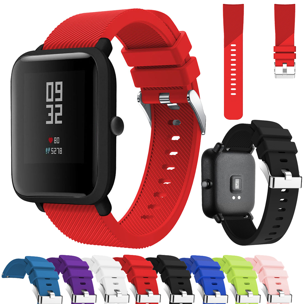 Soft Silicone Band Strap For Xiaomi Huami Amazfit Bip Youth Edition Smart Watch 20mm Replacement Band Sport Breathable Bracelet