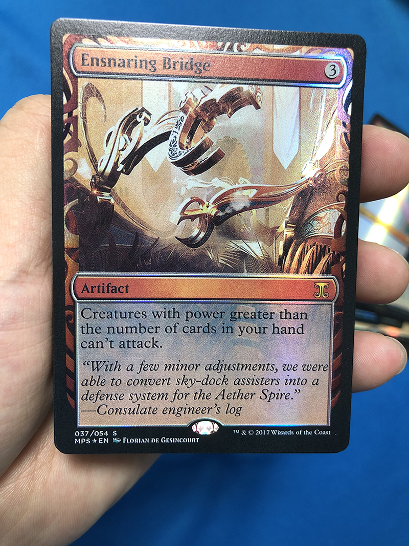 Ensnaring Bridge Kaladesh Inventions Foil Magician ProxyKing 8.0 VIP The Proxy Cards To Gathering Every Single Mg Card.