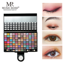 MUSIC ROSE 100colors Matte Glitter Eyeshadow Pallete Lasting Waterproof Eye Shadow Makeup Professional Palette Make up Cosmetics