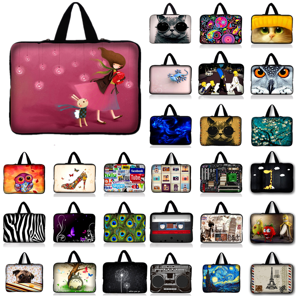 7.9 10.1 11.6 13.3 14.4 15.4 15.6 17 17.3 inch Laptop Sleeve Carry Bag Case Pouch For 15.6 inch HP Dell Acer Asus Sony PC #R