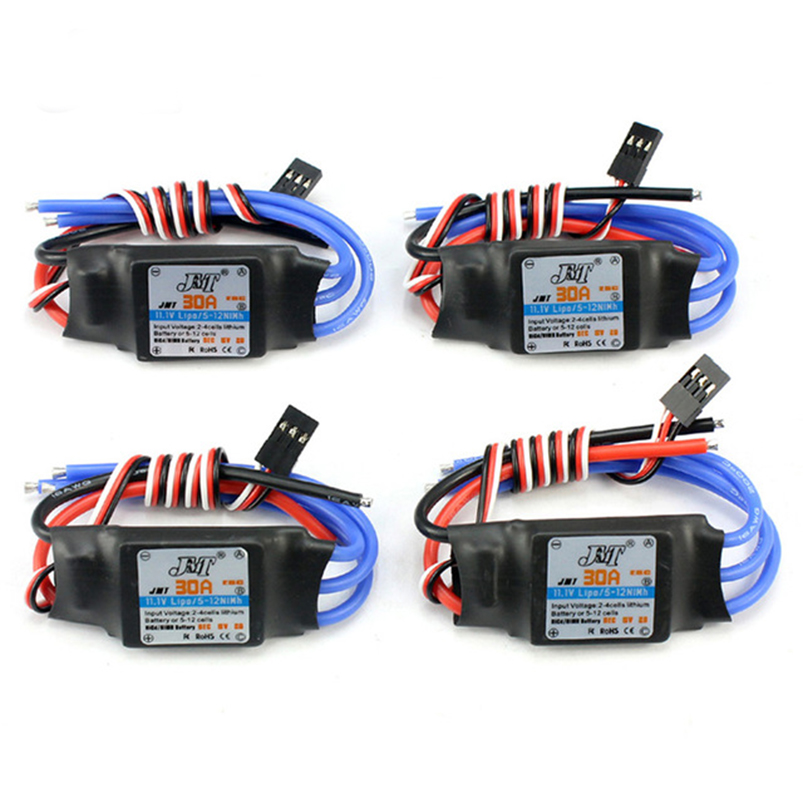 4Pcs 30A Brushless ESC Speed Controller For DIY FPV RC Quadcopter F450 Multi-Rotor Aircraft Helicopter Drone mr rc 40a brushless esc speed controller for rc f450 f550 multirotor aircraft remote helicopter radio controlled a676
