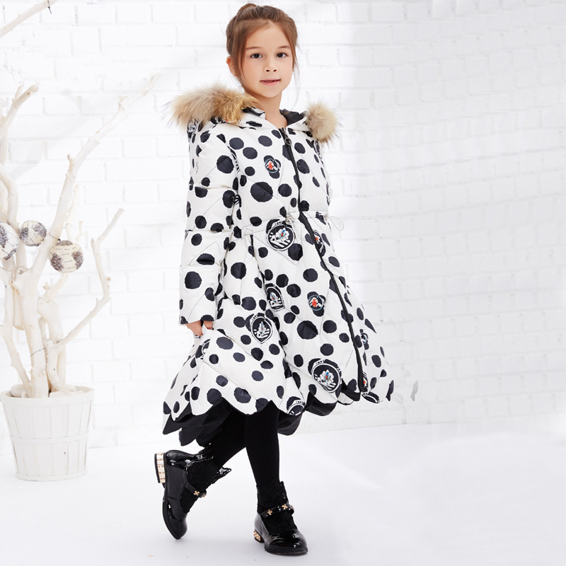 2016 Children Winter Slim Down Jacket Girls Long Sections Thick Down Jacket Kids Girls Fur Hooded Duck Down Jacket Outwear Coat 2016 winter jacket girls down coat child down jackets girl duck down long flower hooded loose coats children outwear overcaot