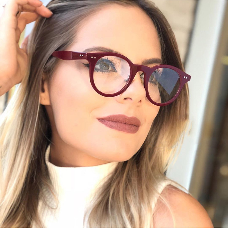 178c475d52 Cheap Gafas ópticas de acetato para mujer, gafas elegantes, gafas para gafas,  montura