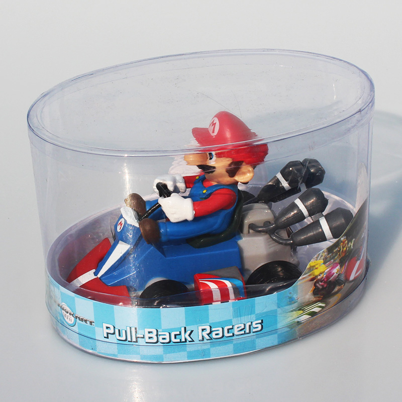 6Pce/Lot Super Mario Bros Kart Princess Peach Toad Donkey Kong Mario Luigi Yoshi Figures Toy Pull Back Cars Pull-Back Racers 1