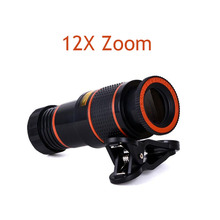 Ecusells 12x Zoom Phone Lens Telescope Celular Mobile Camera Lenses for Xiaomi Smartphone Lentes Para
