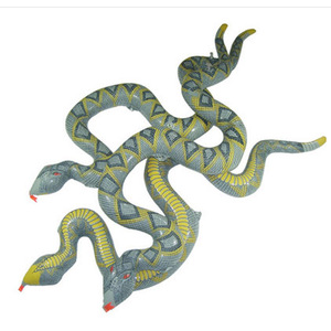 10pcs/lot free shipping Inflatable Animal Big Inflatable Stick Funny Python Simulation Snake Horror Toys Children toy wholesale