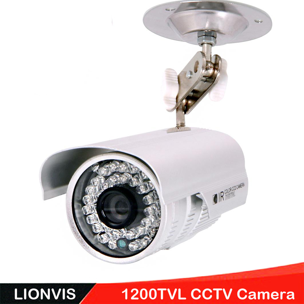 Security Camera 1/3'' SONY CMOS 1200TVL 36 LED Color IR Night Vision Surveillance CCTV Camera Home Outdoor Video Camera 1 3 sony cmos 1200tvl cctv security camera metal ip66 24 led color ir night vision surveillance home outdoor video camera