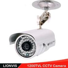 """Security Camera 1/3"""" SONY CMOS 1200TVL 36 LED Color IR Night Vision Surveillance CCTV Camera Home Outdoor Video Camera & 9200C"""