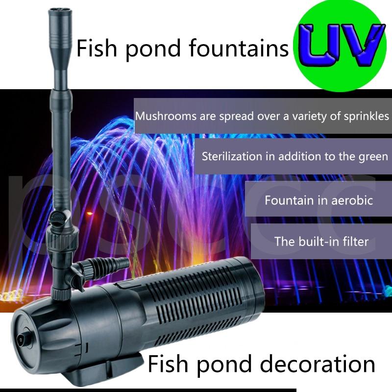 aquarium multi function UV filter fountain pump for fish pond garden pool sterilization landscaping