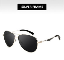 Silver Sunglasses Frame Aluminum Magnesium Alloy Polarization UVA Lenses EXIA OPTICAL KD-101 Series