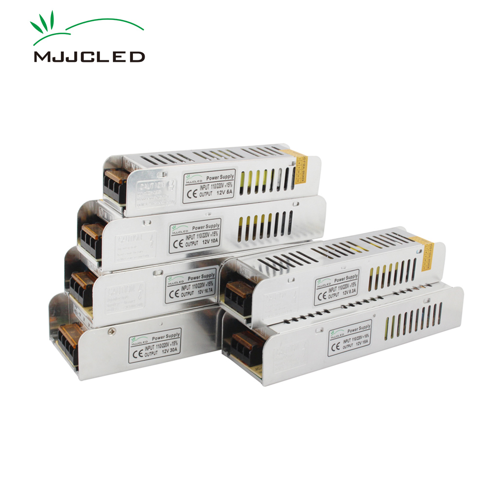 12 volts fonte de alimentação 12 v 5a 10a 15a 20a 30a 33a transformador eletrônico 110 v 220 v a unidade de fonte de alimentação 12 v para a luz de tira conduzida