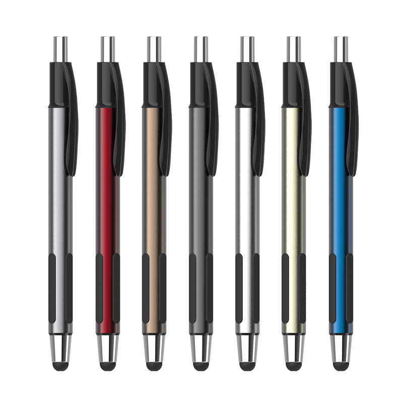 200 pcs/lot 2016 novelty multi function metal pen with stylus