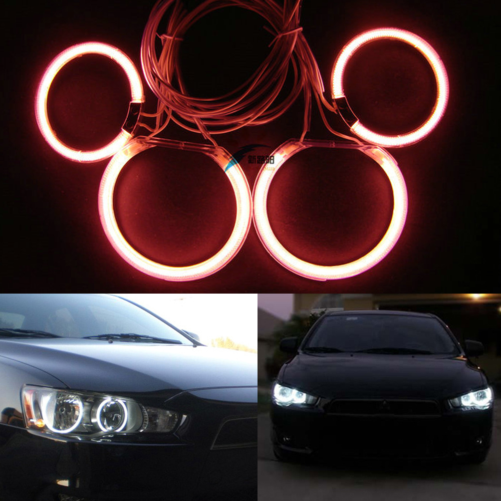 4x Excellent CCFL Angel Eyes kit For Mitsubishi Lancer 2008-2015 Halogen headlight CCFL HALO RINGS ANGEL EYES lights Car-styling купить