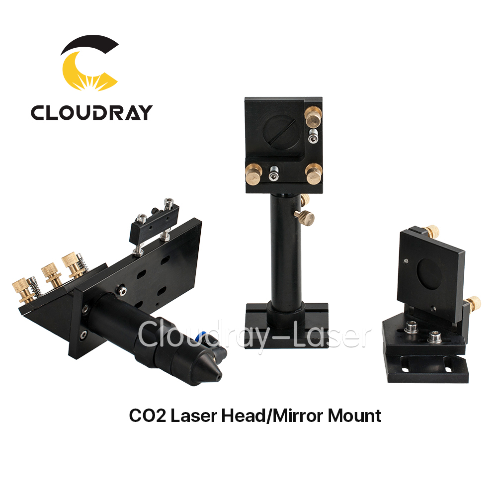 Cloudray CO2 Laser Kopf Set/Spiegel und Focus Objektiv Integrative Montieren Houlder für Laser Gravur Schneiden Maschine