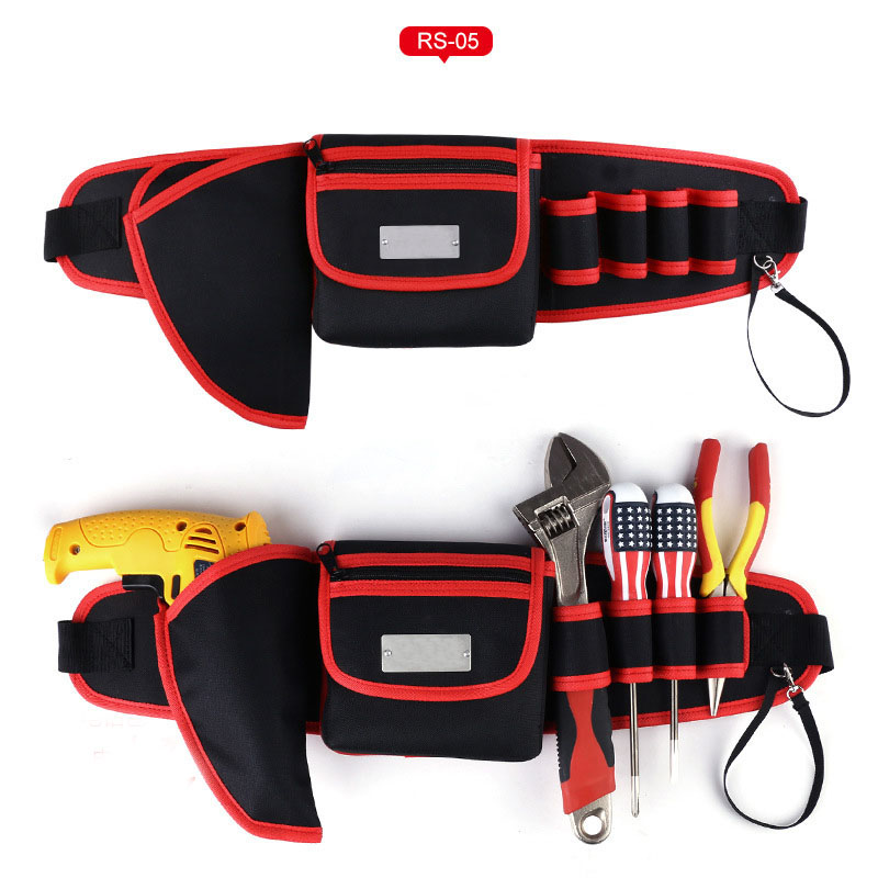 High Quality Waist Tool Bag Tool Belt For Screwdriver Pouch Durable Waist Tool Holder Adjustable Electric Drill Bag