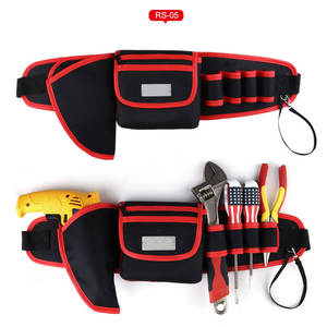 Tool Bag With Cover for Screwdriver Pouch Tool Belt Adjustable Electric Drill Bag