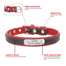 Personalized Padded Yorkie Leather Collars