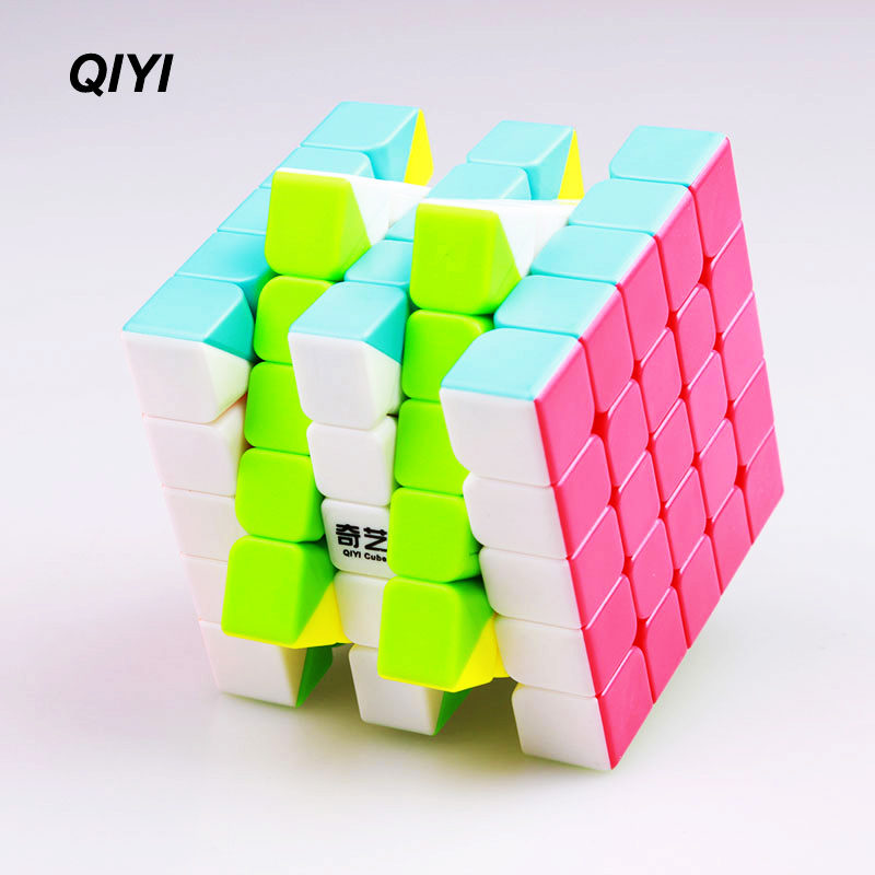 QIYI 5x5x5 Speed ​​Magic Cube Qizhengs Klistremerke Less Puzzle Cube Professional Cubo Magico Utdanning Anti Stress Leker For barn