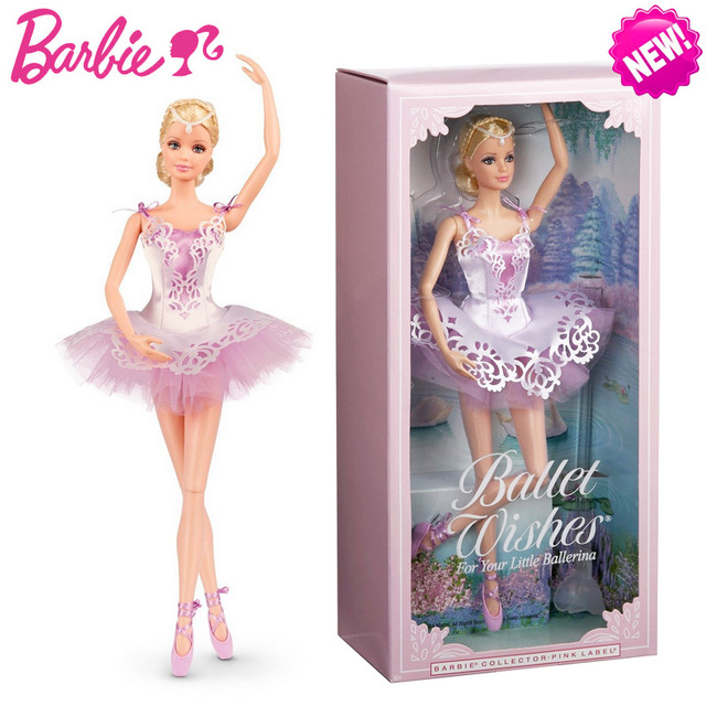 Original Barbie Doll Brand Collectible Doll Ballet wish Barbie Doll Toy Girl Birthday Present Girl Toys Gift Bonecbrinquedos 1piece free shipping christmas gift girl birthday gift toy original 11joint doll doll accessories for barbie doll