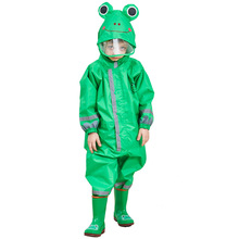 Kocotree 3-9 éves gyerekek Cartoon Frog Rainwear vízálló kapucnis RainCoat Outwear Camp Poncho Kids Rain Jumpsuit