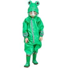 Kocotree 3-9 Years Old Children Cartoon Frog Rainwear Waterproof Hooded RainCoat Outwear Camp Poncho Kids Rain Jumpsuit