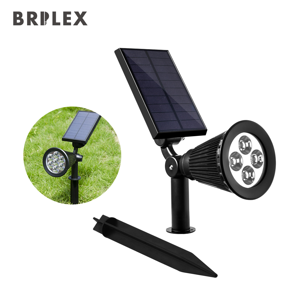 Solar LED Lights Brilex Rechargeable Garden Landscape Lawn Pathway Waterproof Outdoors U ...