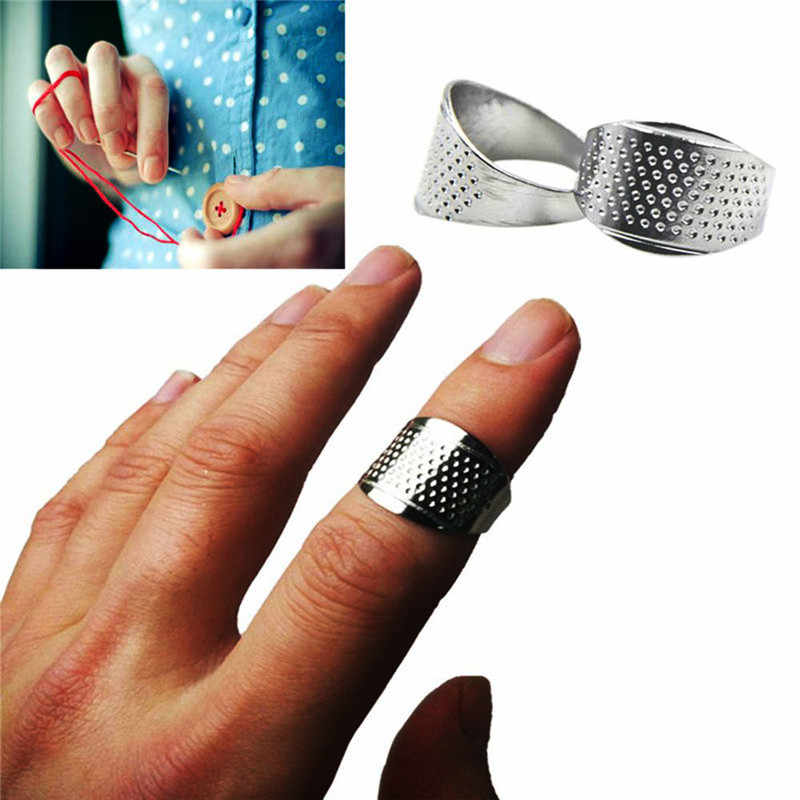 2Pcs/Set Costura Finger Protector Sewing Thimbles Adjustable Ring Thimble Quilting Tools DIY Handworking Sewing Accessories