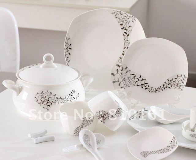 bone china 56PCS! cutlery set tablewaredinnerware setpottery bowlsdishes & bone china 56PCS! cutlery set tablewaredinnerware setpottery bowls ...