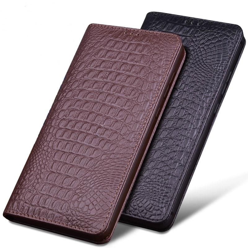 Pour IPhone XS XS MAX Cas De Luxe Véritable Crocodile En Cuir Téléphone Cas Mode Téléphone Sacs pour IPhone XR Cas