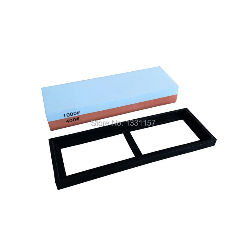 400 1000 Grits Double Sided Coarse and Fine Knife Sharpeners Whetstone Sharpening Stone Oilstone DMD1511